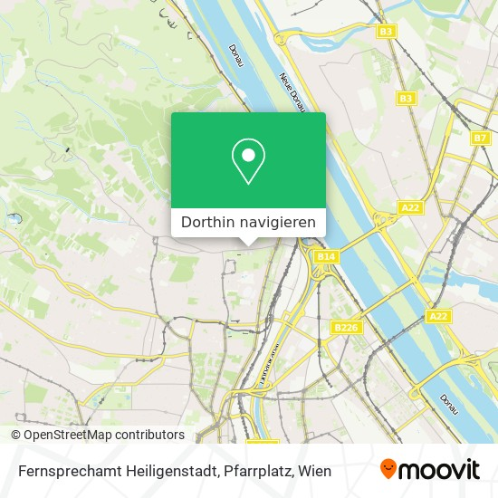 Fernsprechamt Heiligenstadt, Pfarrplatz Karte