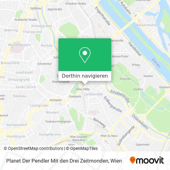 Planet Der Pendler Mit Den Drei Zeitmonden Karte