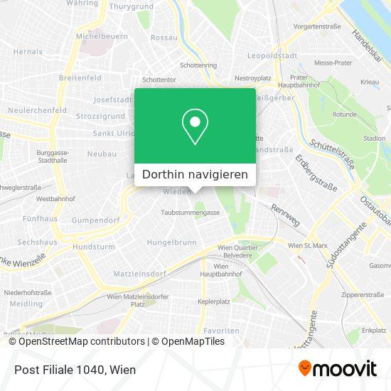 1040 Wien Karte