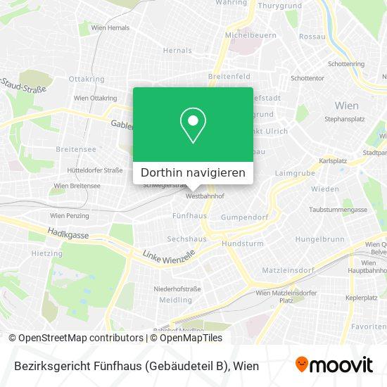 Bezirksgericht Fünfhaus (Gebäudeteil B) Karte