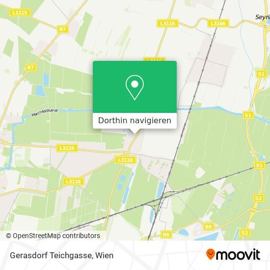 Gerasdorf Teichgasse Karte