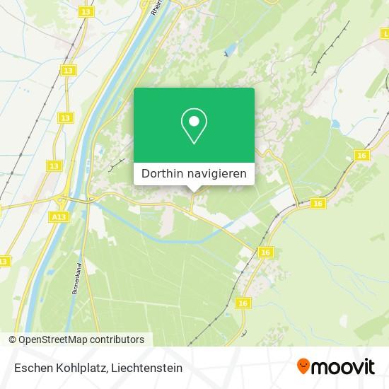 Eschen Kohlplatz Karte