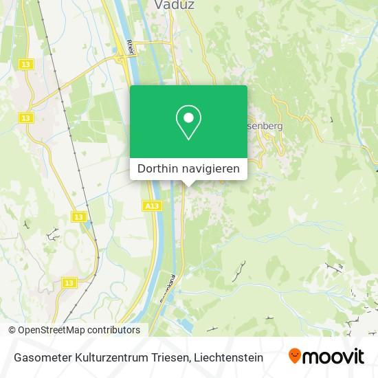 Gasometer Kulturzentrum Triesen Karte