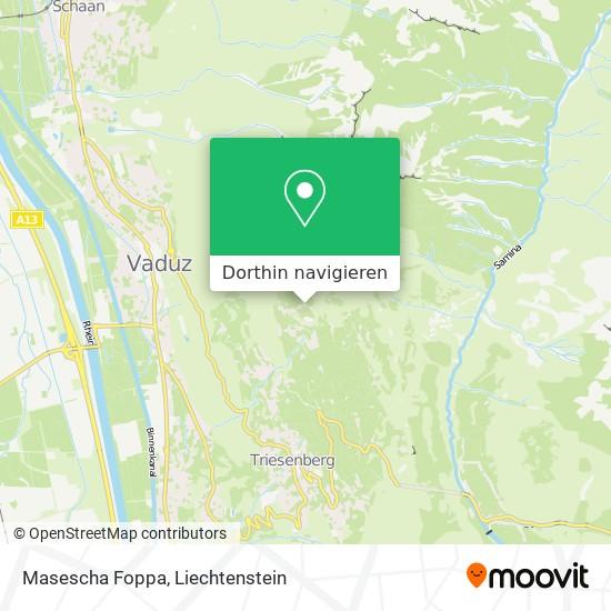 Masescha Foppa Karte