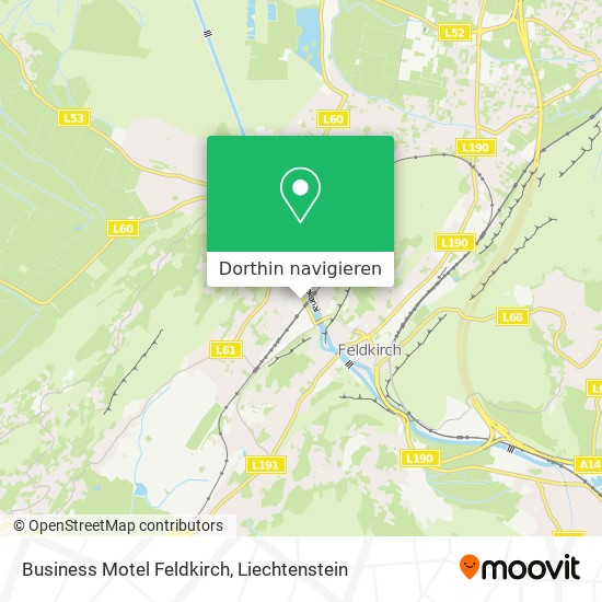Business Motel Feldkirch Karte