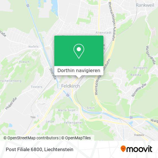 6800 Feldkirch Karte