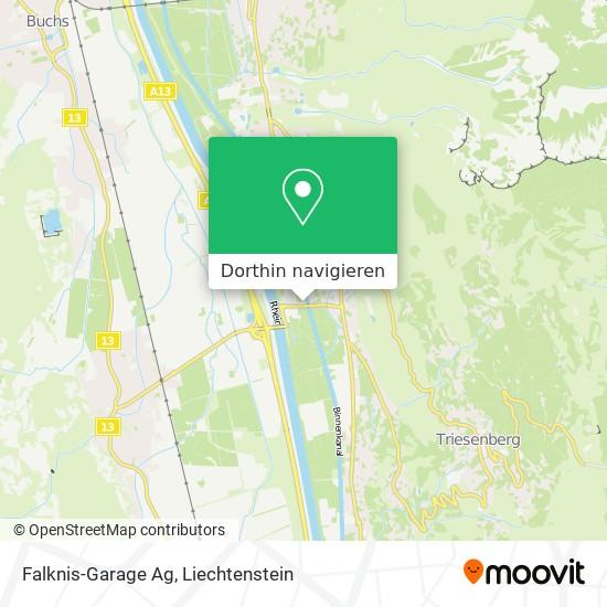 Falknis-Garage Ag Karte