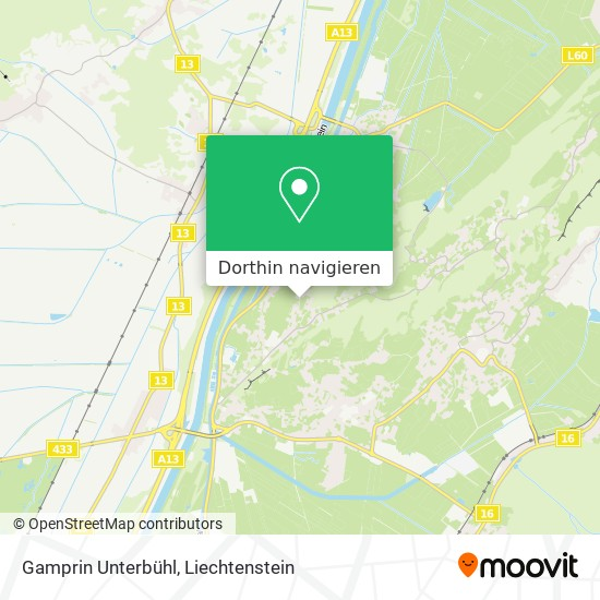Gamprin Unterbühl Karte