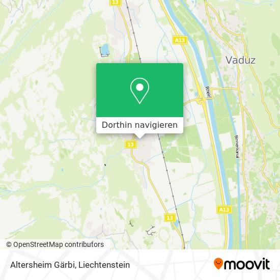 "Altersheim """"Gärbi"""" Karte"