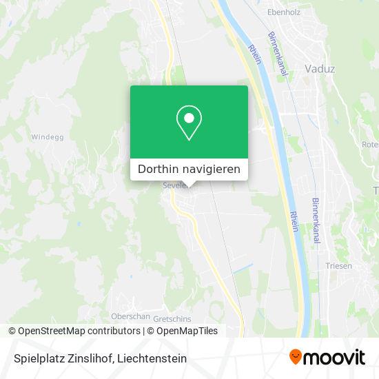 Spielplatz Zinslihof Karte