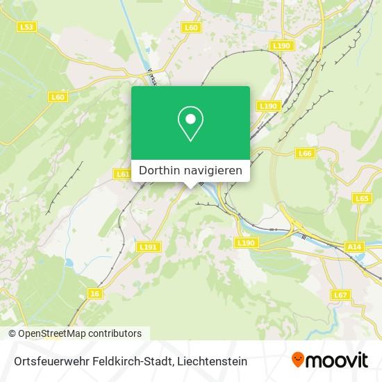 Feuerwehr Feldkirch-Stadt Karte