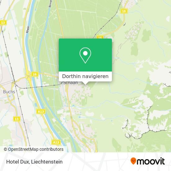 Hotel Dux Karte