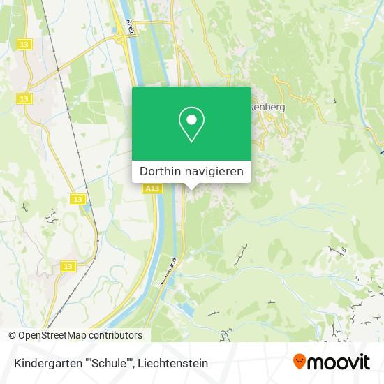"""Kindergarten """"""""Schule"""""""" Karte"""