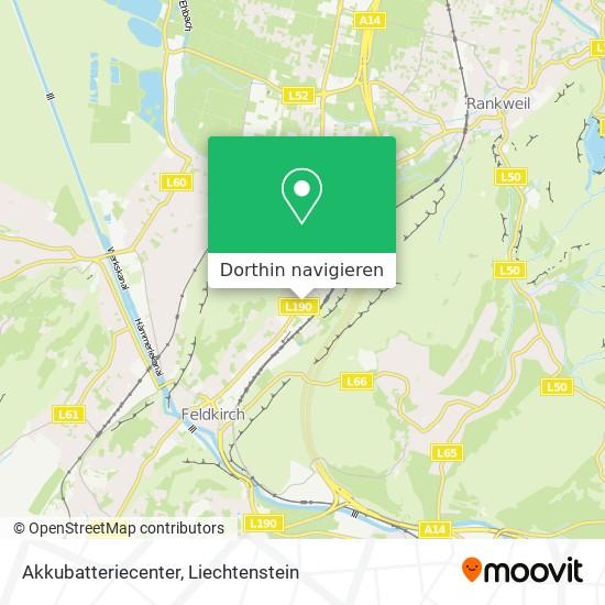 Akkubatteriecenter Karte