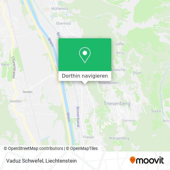 Vaduz Schwefel Karte