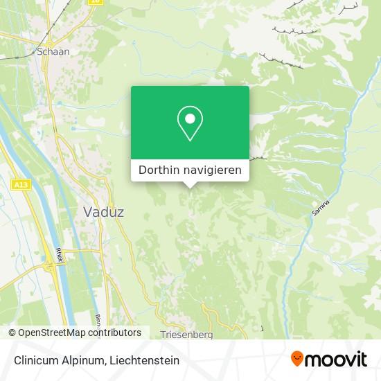 Clinicum Alpinum Karte