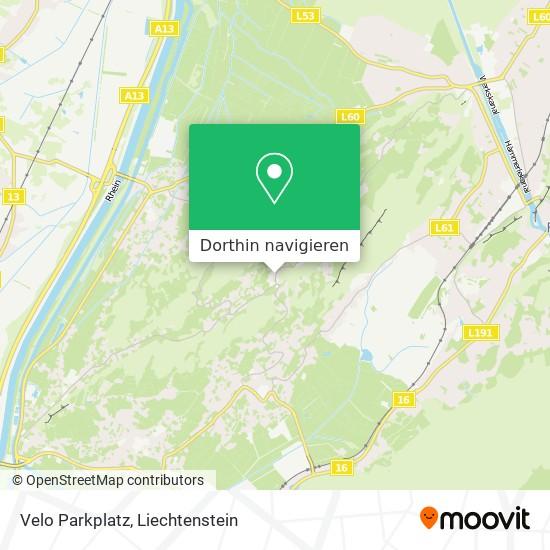 Velo Parkplatz Karte
