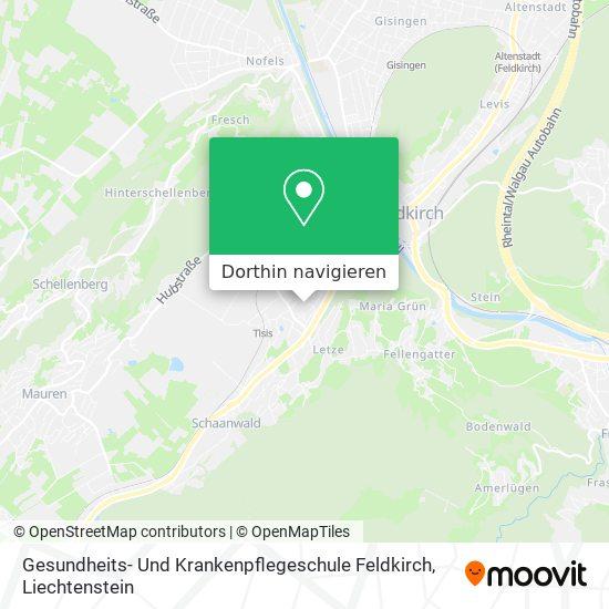 Gesundheits- Und Krankenpflegeschule Feldkirch Karte