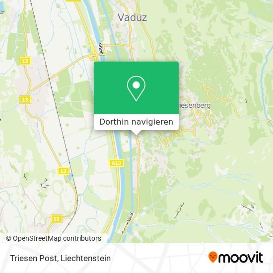 Triesen Post Karte