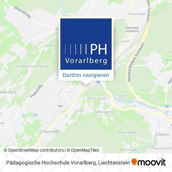 Pädagogische Hochschule Vorarlberg Karte