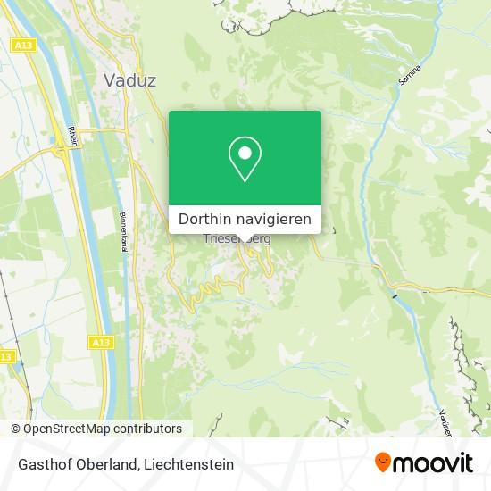 Gasthof Oberland Karte