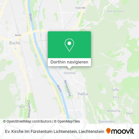 Ev. Kirche Im Fürstentum Lichtenstein Karte