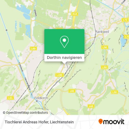 Tischlerei Andreas Hofer Karte