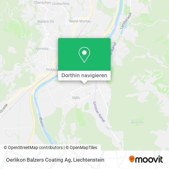 Oerlikon Balzers Coating Ag Karte
