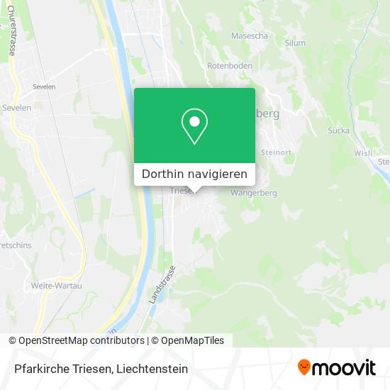 Pfarkirche Triesen Karte