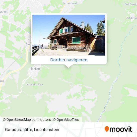 Gafadurahütte Karte