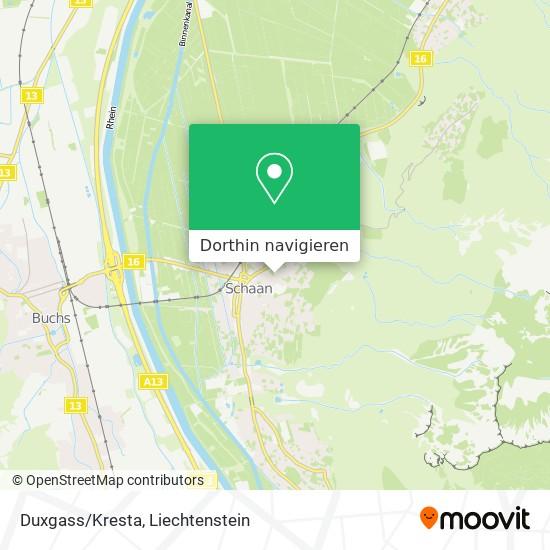 Duxgass/Kresta Karte