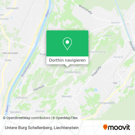 Untere Burg Schellenberg Karte