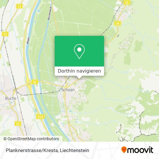 Planknerstrasse/Kresta Karte