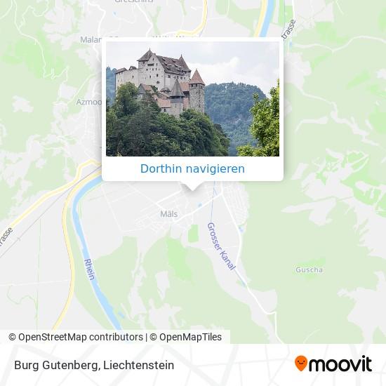 Burg Gutenberg Karte