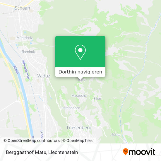Berggasthof Matu Karte