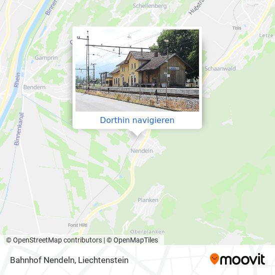 Bahnhof Nendeln Karte