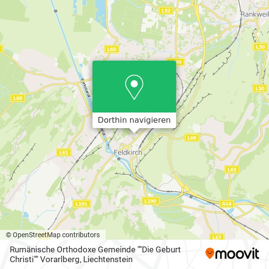 """Rumänische Orthodoxe Gemeinde """"""""Die Geburt Christi"""""""" Vorarlberg Karte"""