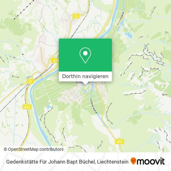 Gedenkstätte Für Johann Bapt Büchel Karte