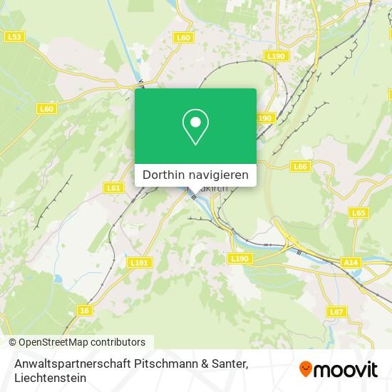 Anwaltspartnerschaft Pitschmann & Santer Karte