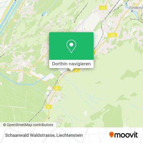 Schaanwald Waldstrasse Karte