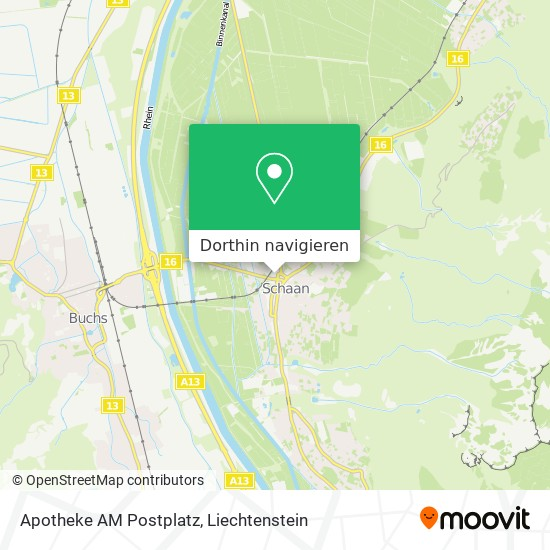 Apotheke AM Postplatz Karte