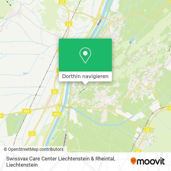 Swissvax Care Center Liechtenstein & Rheintal Karte