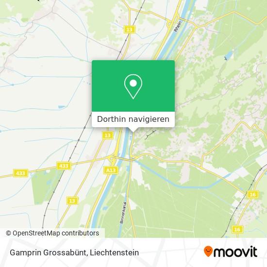 Gamprin Grossabünt Karte