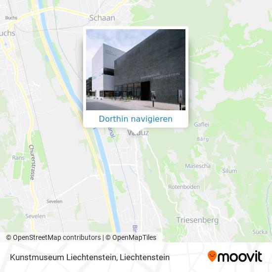Kunstmuseum Liechtenstein Karte