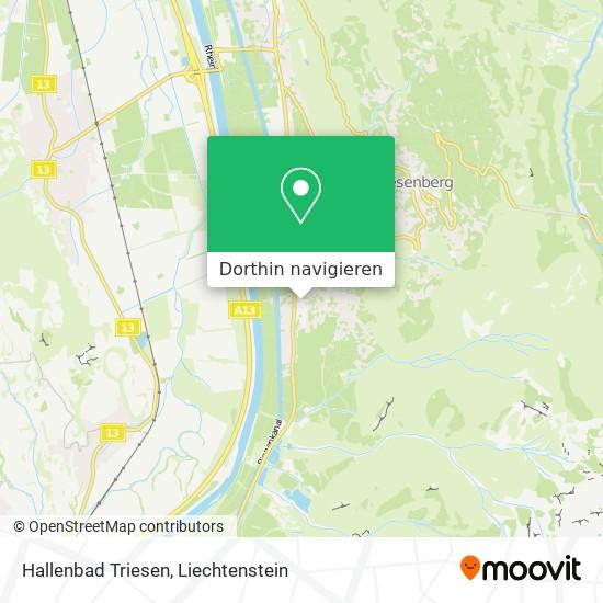 Hallenbad Triesen Karte