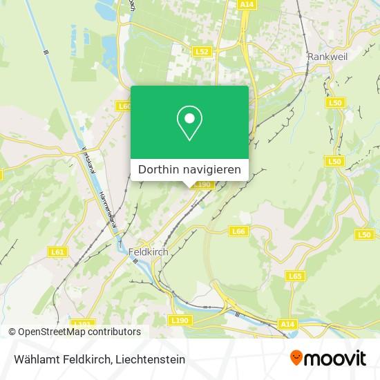 Wählamt Feldkirch Karte