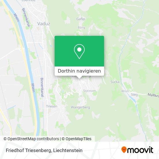 Friedhof Triesenberg Karte