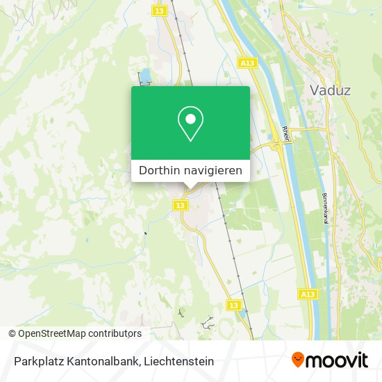 Parkplatz Kantonalbank Karte