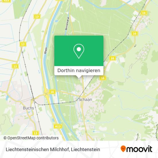 Liechtensteinischen Milchhof Karte