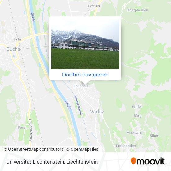 Universität Liechtenstein Karte